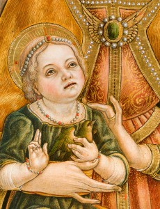 Monte San Martino - Crivelli_Particolare Gesù Bambino
